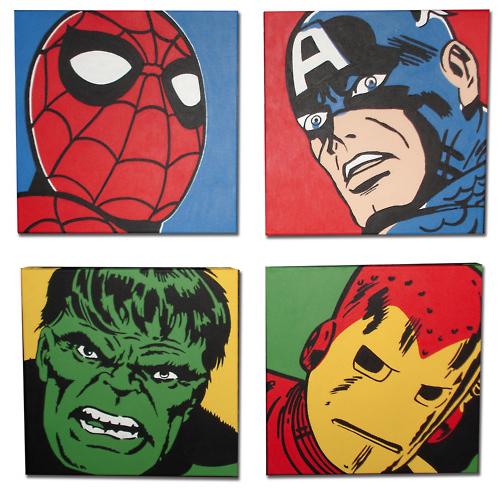 Pop art superhero joy studio design gallery best design - Marvel comics decor ...