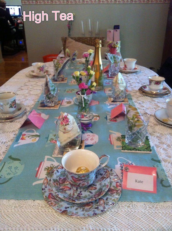 High Tea Table Setting Tea Party Vca Pinterest