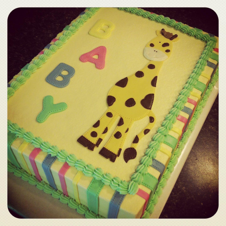 giraffe baby shower cake baby kids pinterest