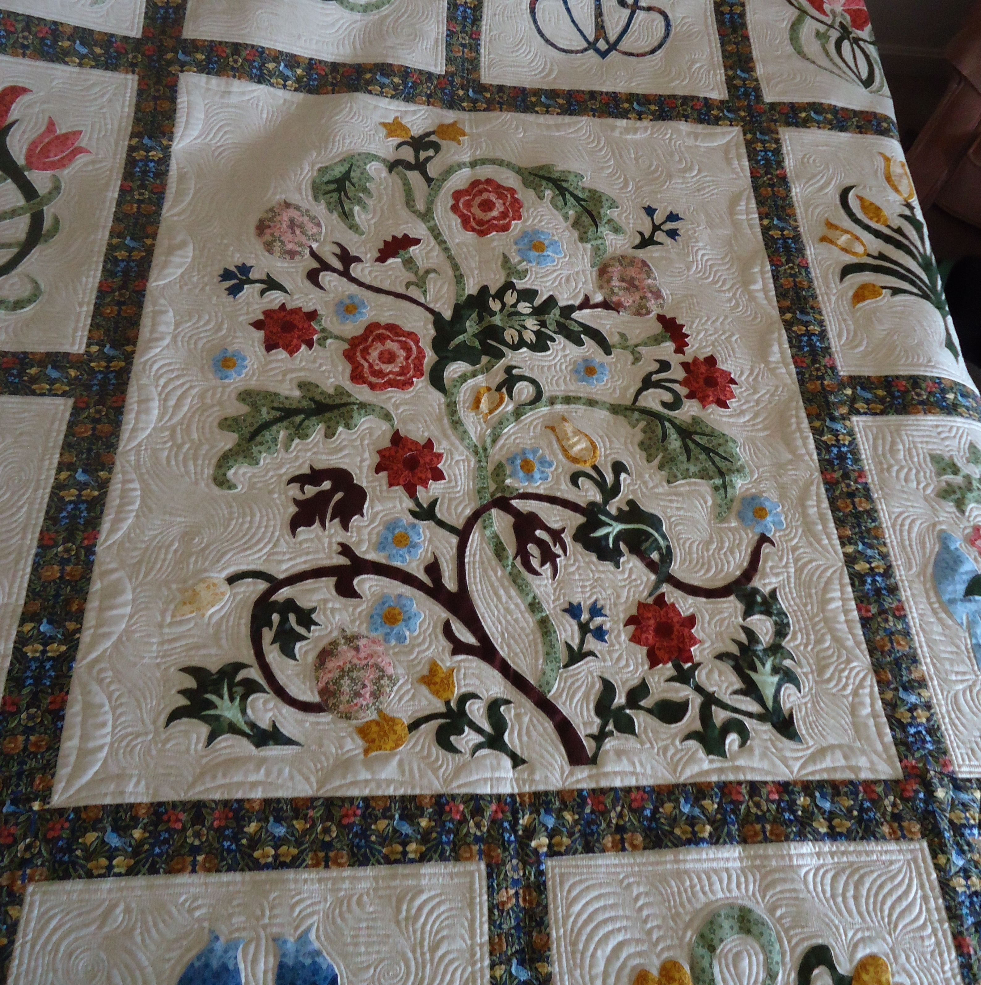 Long Arm Quilting Pattern Boards : Quilting an Applique Quilt Long Arm Designs Pinterest
