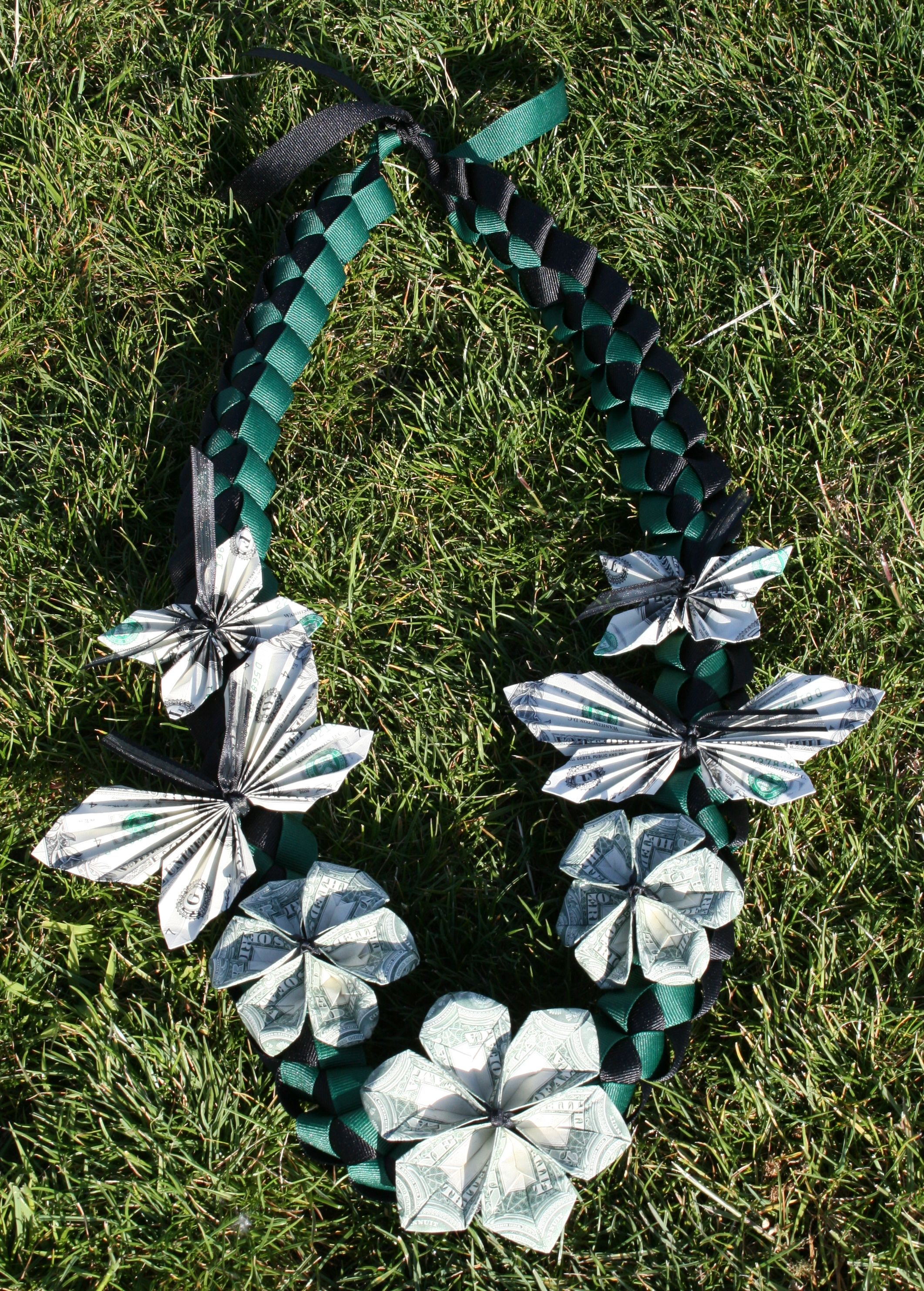 Money Flower Lei for Graduation 2013 DIY Leis