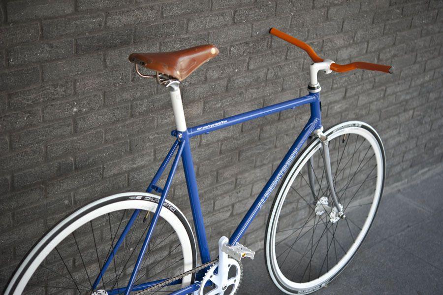 classic light blue fixie