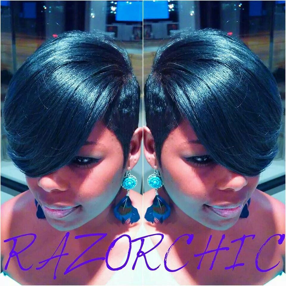 Short Hairstyles Pictures About Short Hair Weaves For Black Women ...