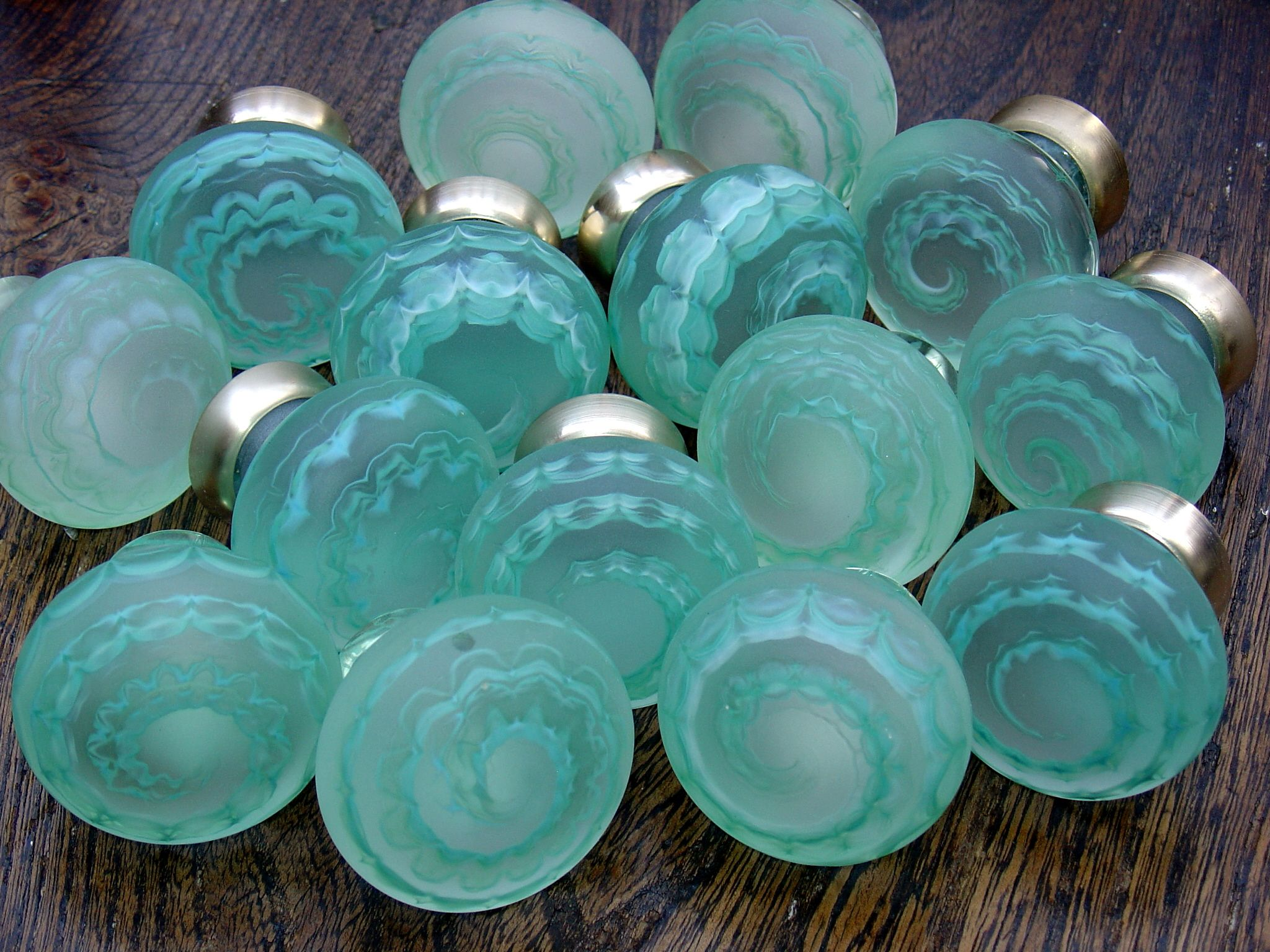 Shades Of Green By Merlin Glass Knobs Of Glass Pinterest