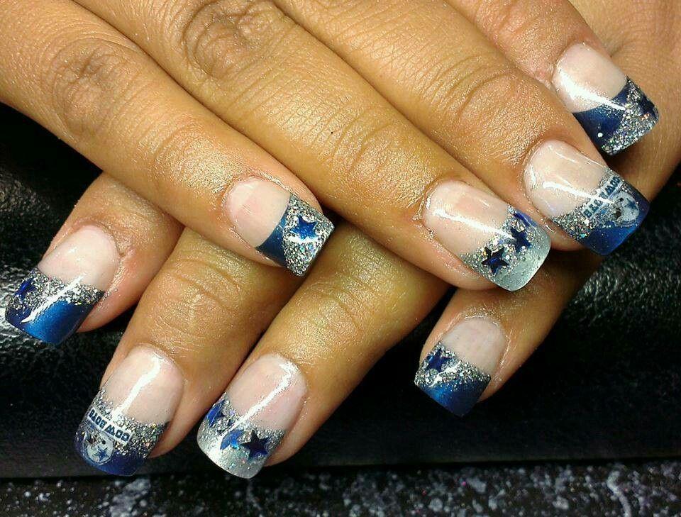 Dallas Cowboy nails | ★Dallas Cowboys!★ | Pinterest