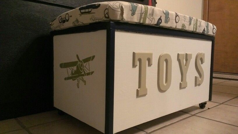Bench toy box DIY | Craft Ideas | Pinterest