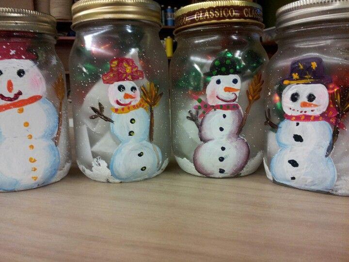 Bonhomme de neige sur pot mason enseignement pinterest - Pinterest bonhomme de neige ...