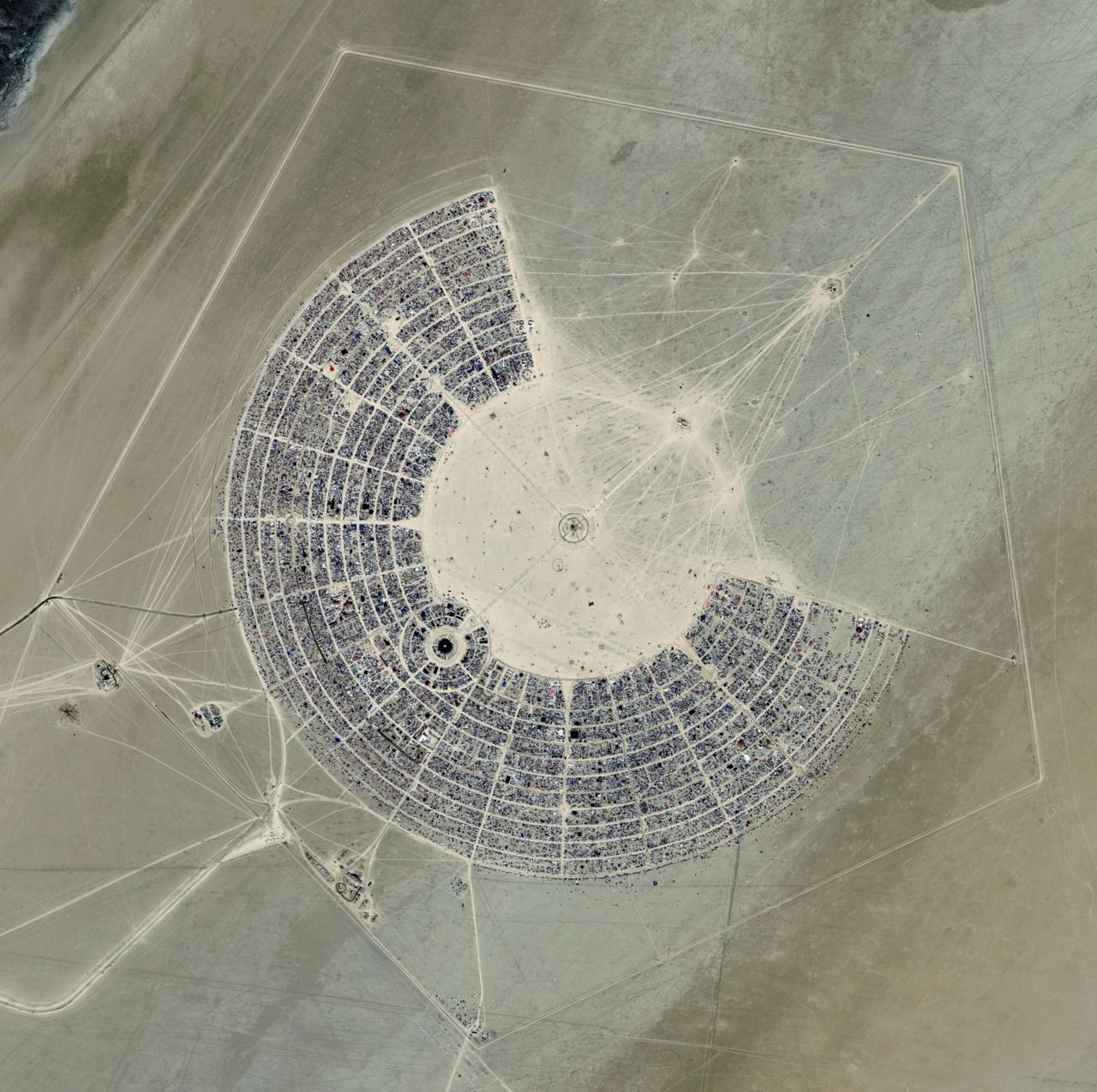Google s Skybox Satellites Shoot GIFs Of Burning Man Being Built Burning man satellite photo 2012
