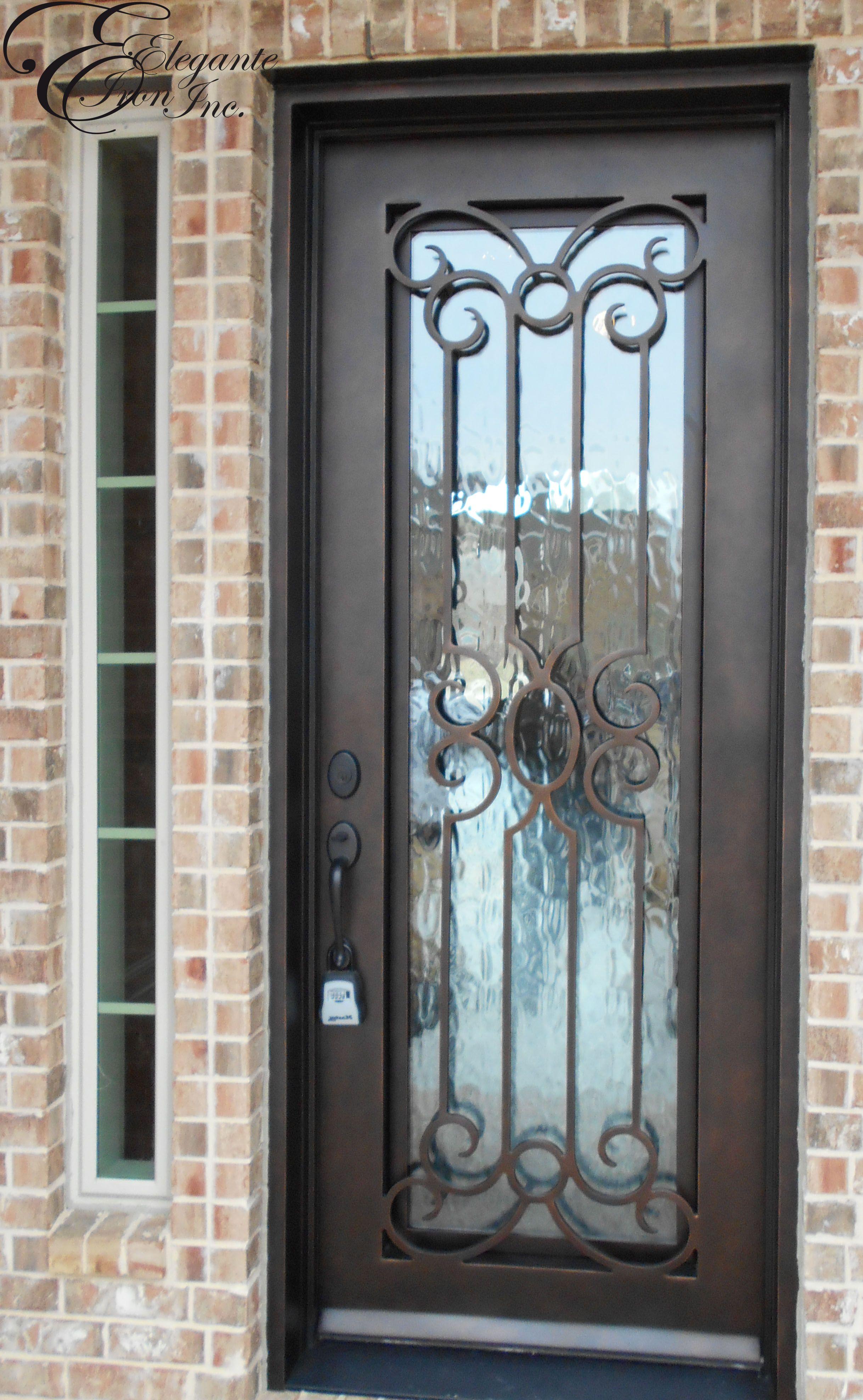 3952 #7D624E Custom Iron Door. Single Doors Pinterest image Iron Entrance Doors 38932436