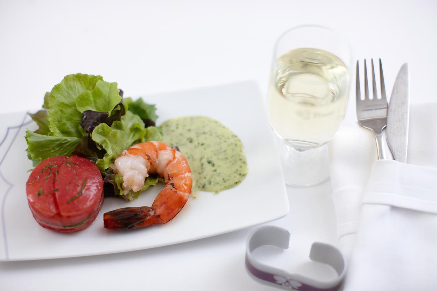 Food on board thai airways thai airways pinterest for Air thai cuisine