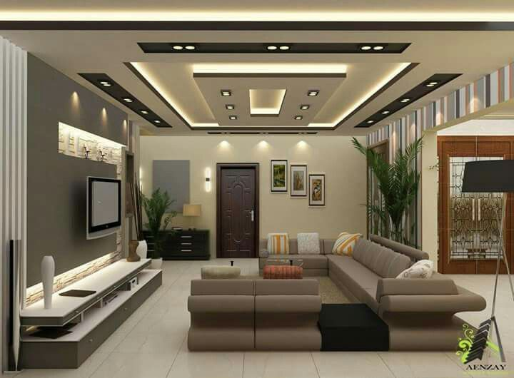 living room p o p design  Pop for home | Amit | Pinterest | Ceilings, Living rooms and Salons