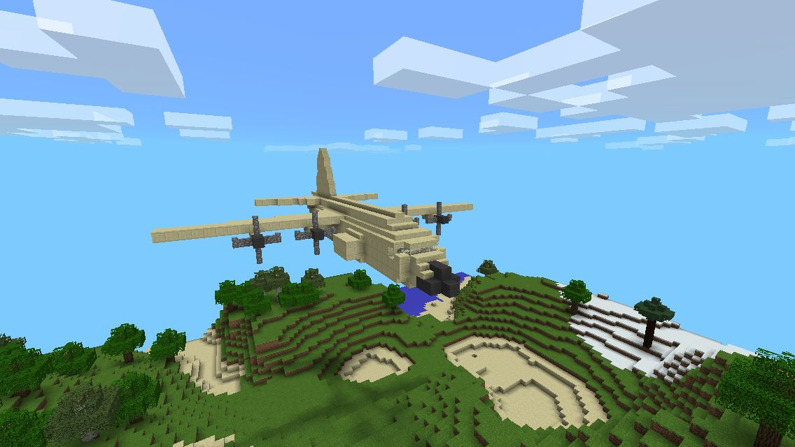 how to build a airplane in minecraft