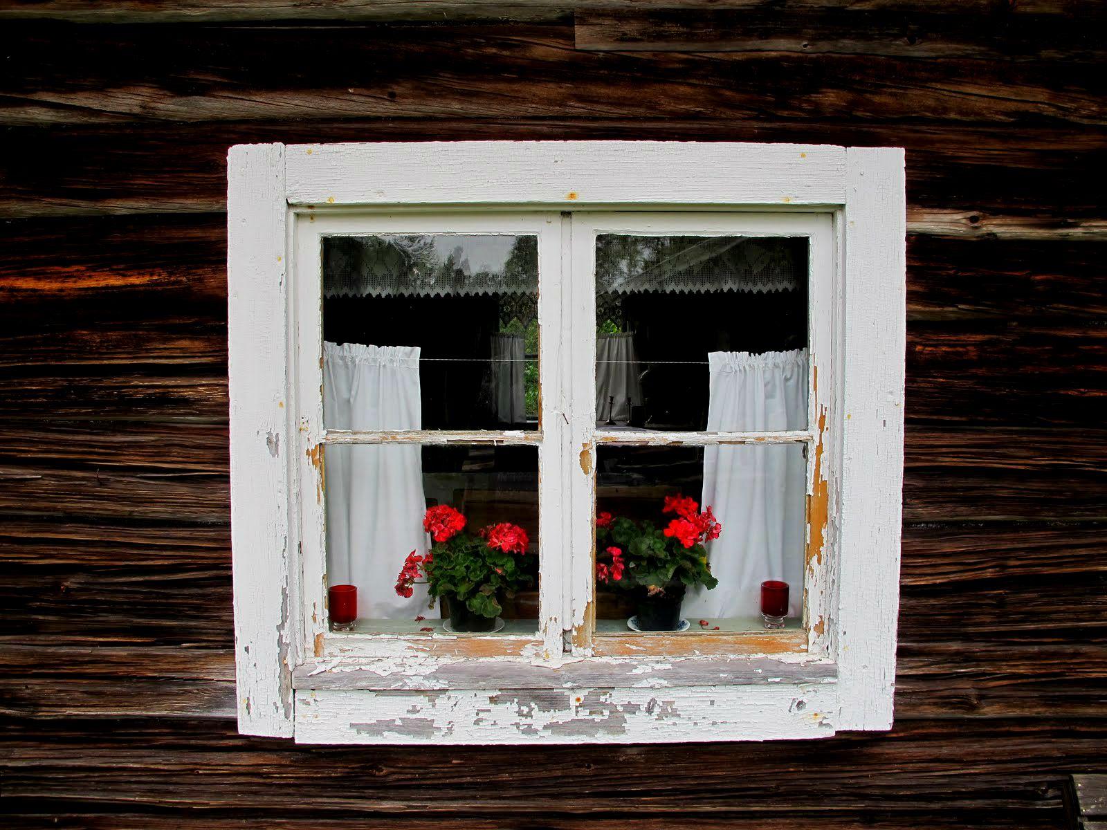 Log Cabin Window Sweden Log Cabin Love Pinterest