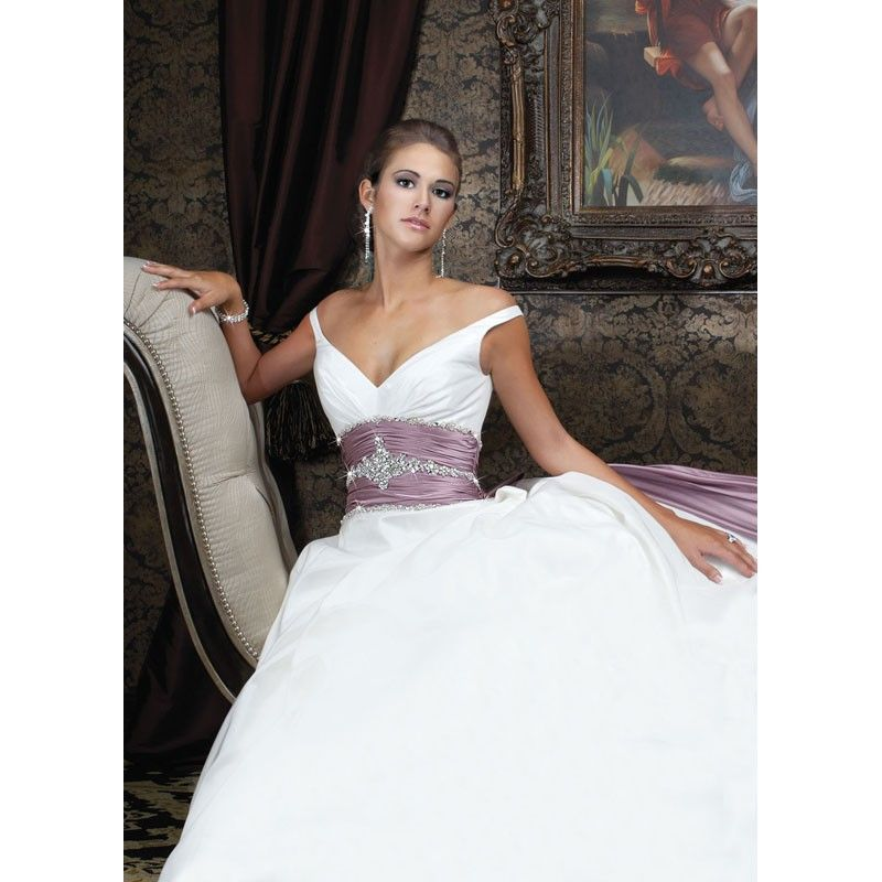 Wedding Gowns With Purple Accents - Overlay Wedding Dresses