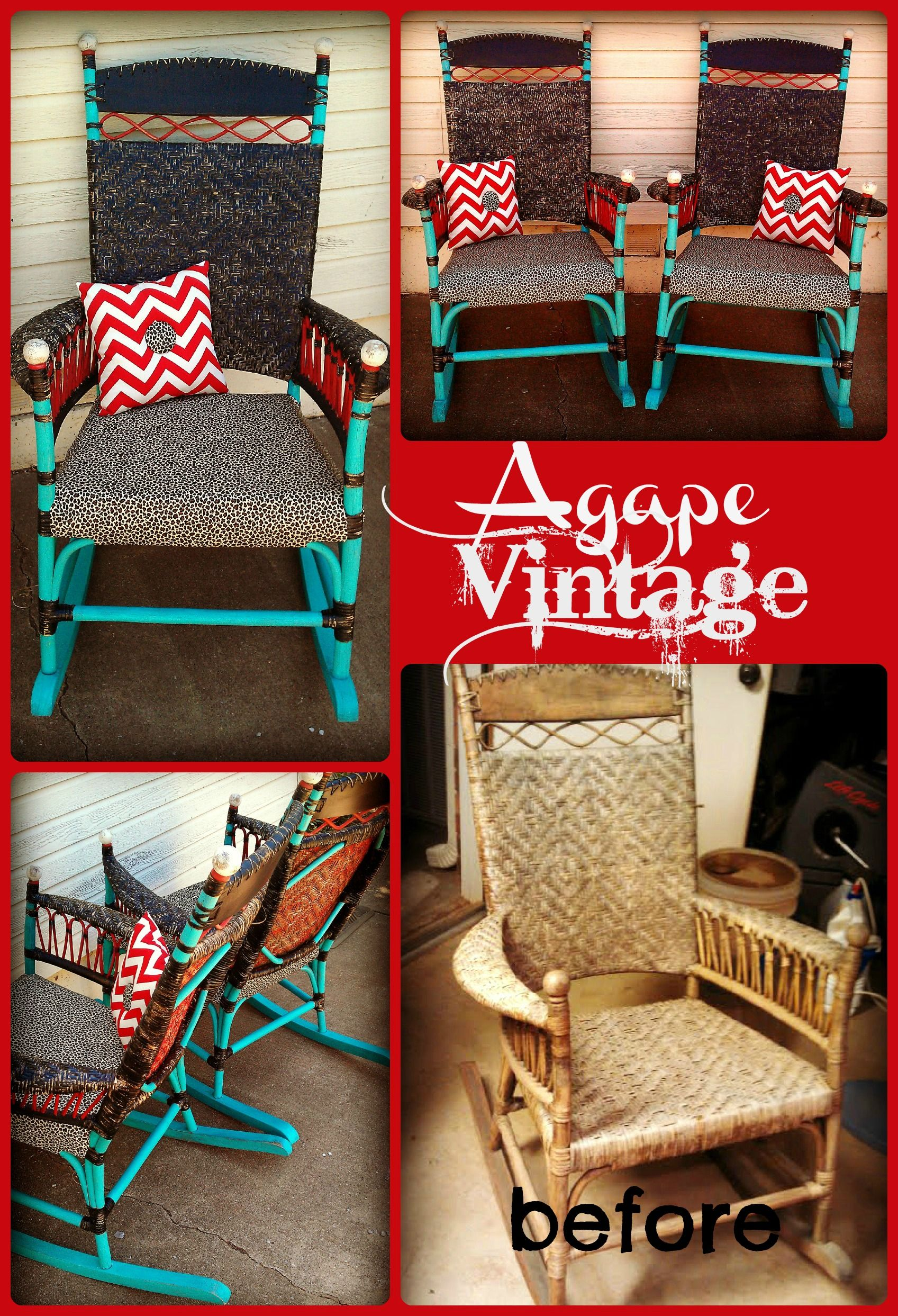 Vintage Rocking Chairs for front porch.  Inspiration  Pinterest