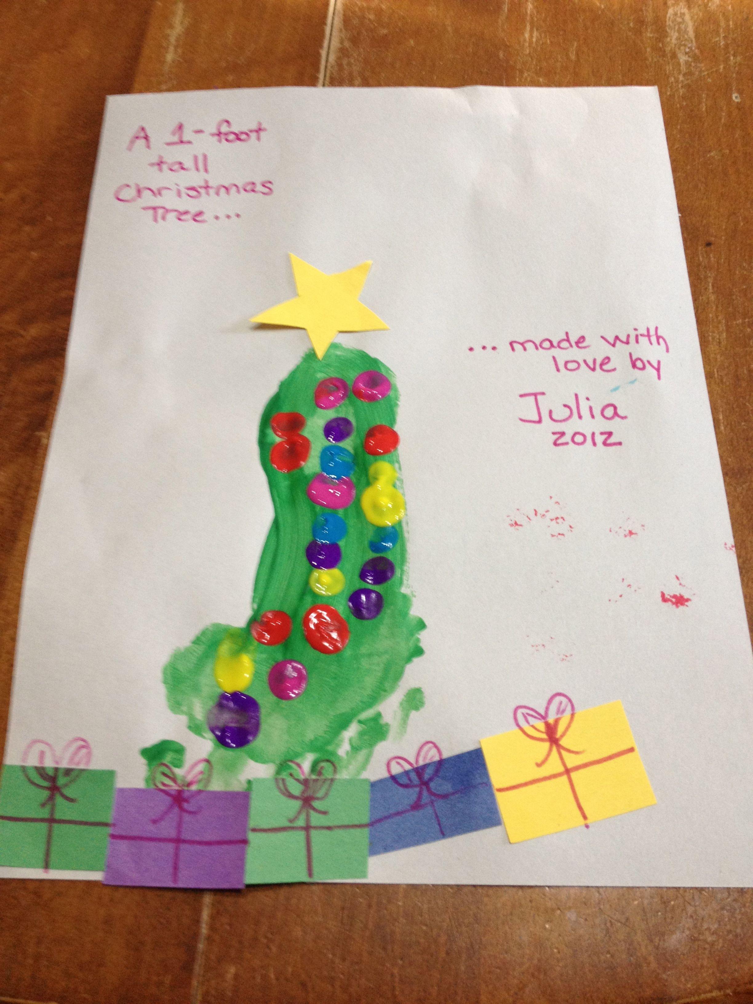 Footprint Christmas tree   Handprint & Footprint Crafts   Pinterest