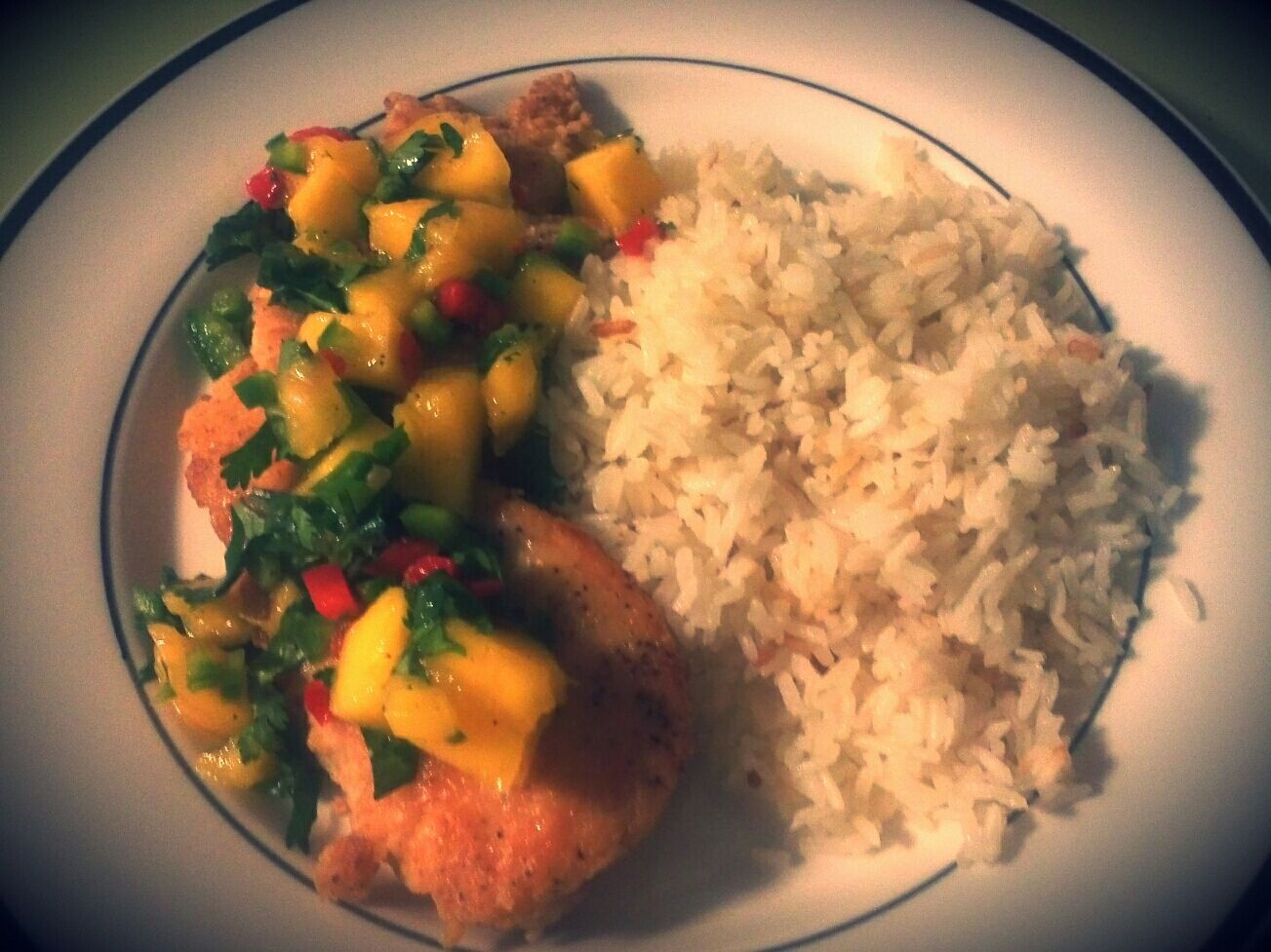 chicken with mango chutney sauce easy pan fried mango curry chicken ...