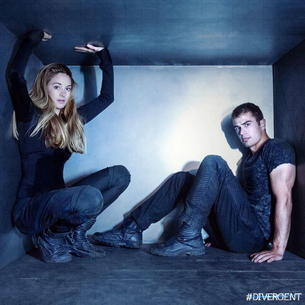 Tris and Four in Four's fear landscape | Divergent | Pinterest