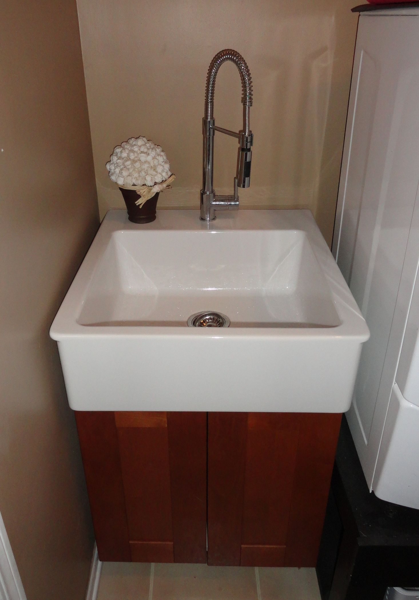 Utility Sink Cabinet : ikea laundry sink with cabinet
