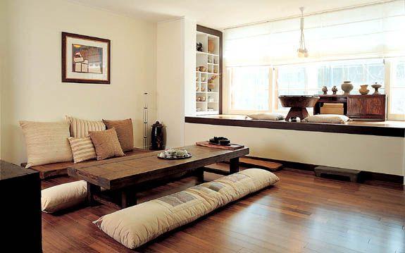 living room korean design  Modern Hanok, Korean traditional house, living area | one day ...