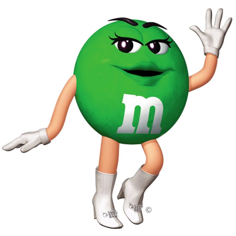green queen | Characters - M & M's | Pinterest
