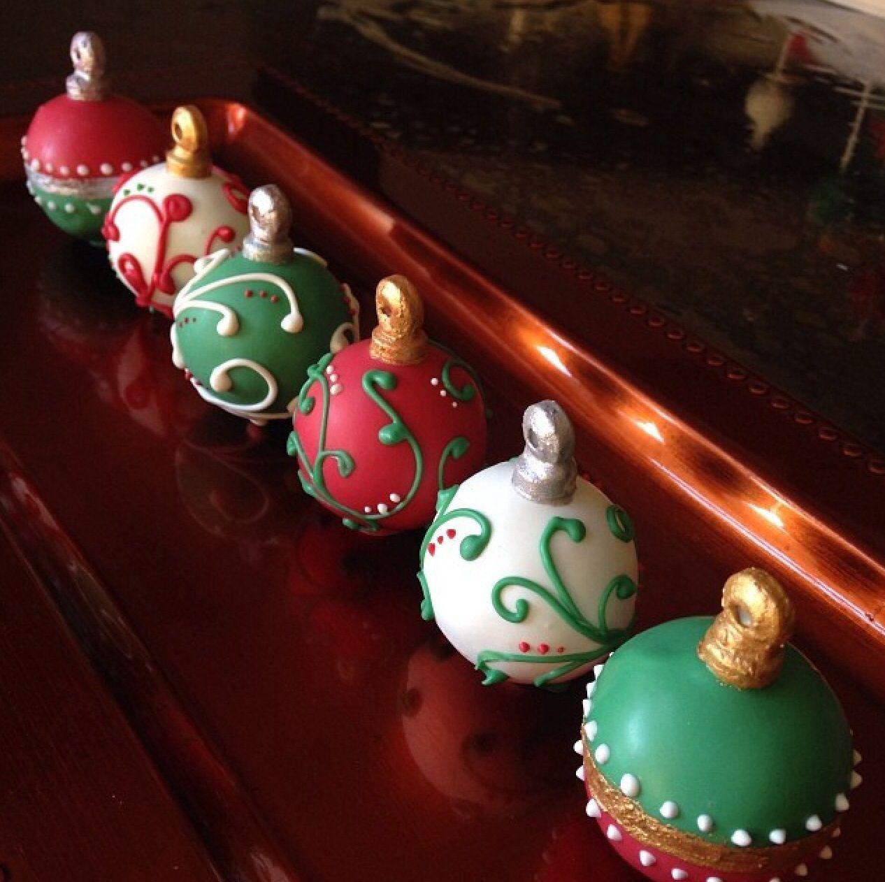 Images Of Christmas Cake Balls : Christmas Ornament cake balls Cake Balls/Pops & Truffles ...