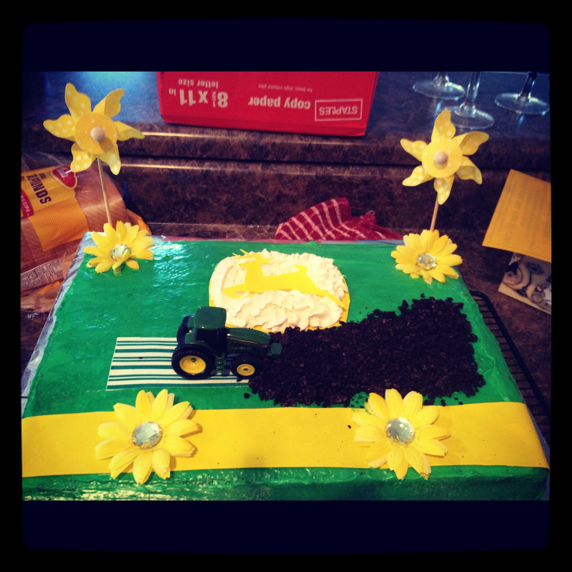 john deere baby shower cake i made cakes pinterest