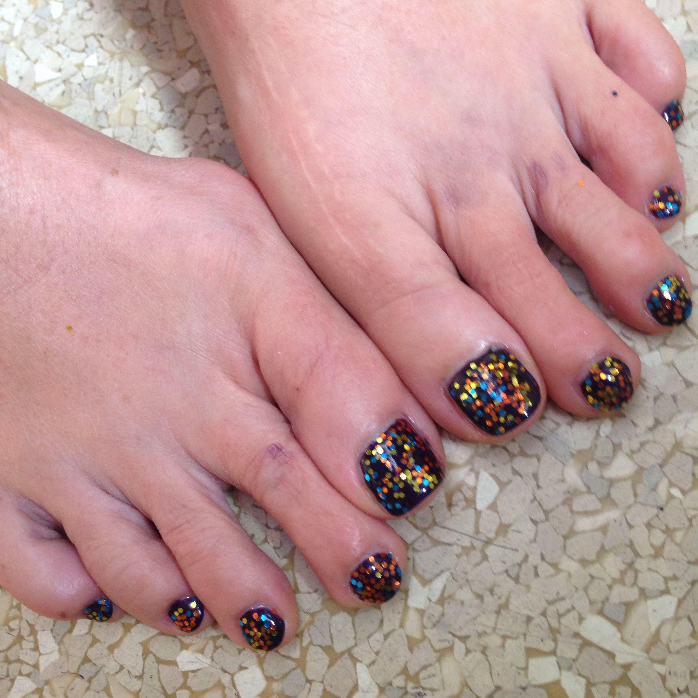 Fall gel pedicure | Crazy nail designs | Pinterest