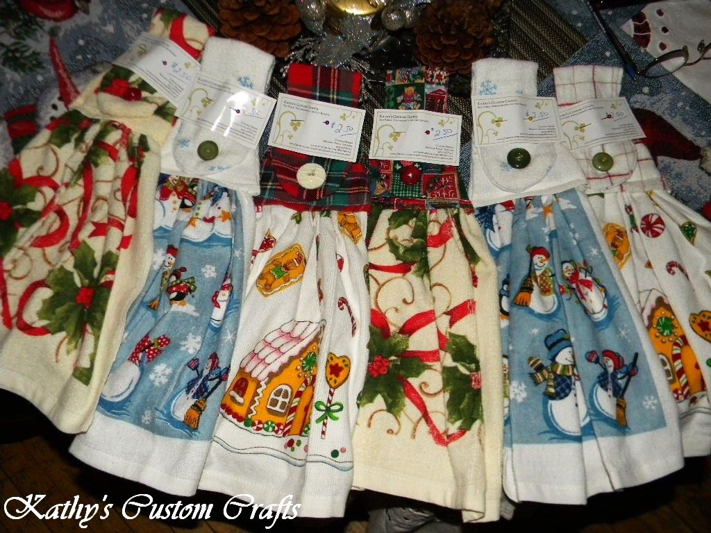 Christmas Kitchen Towels Kathy s Custom Crafts