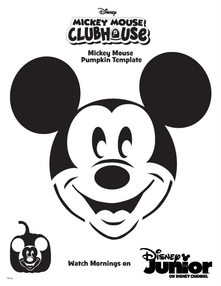 This is a photo of Sizzling Mickey Mouse Pumpkin Stencils Printable