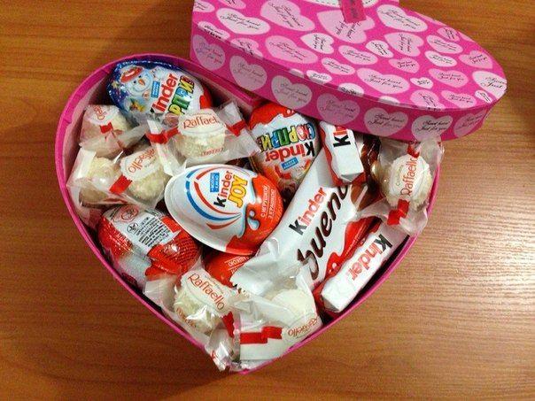 Сладкий подарок девушке своими руками