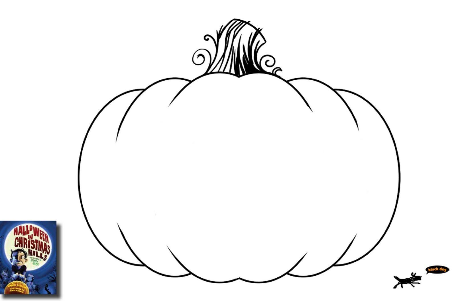 Blank Pumpkin Outline Printable Sketch Coloring Page