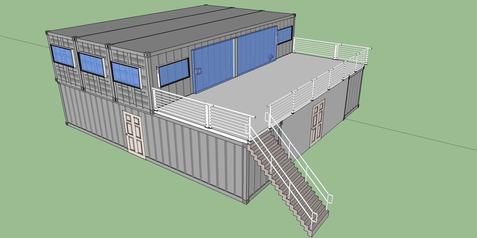 Чертежи и проекты домов из морских контейнеров с чертежом 153