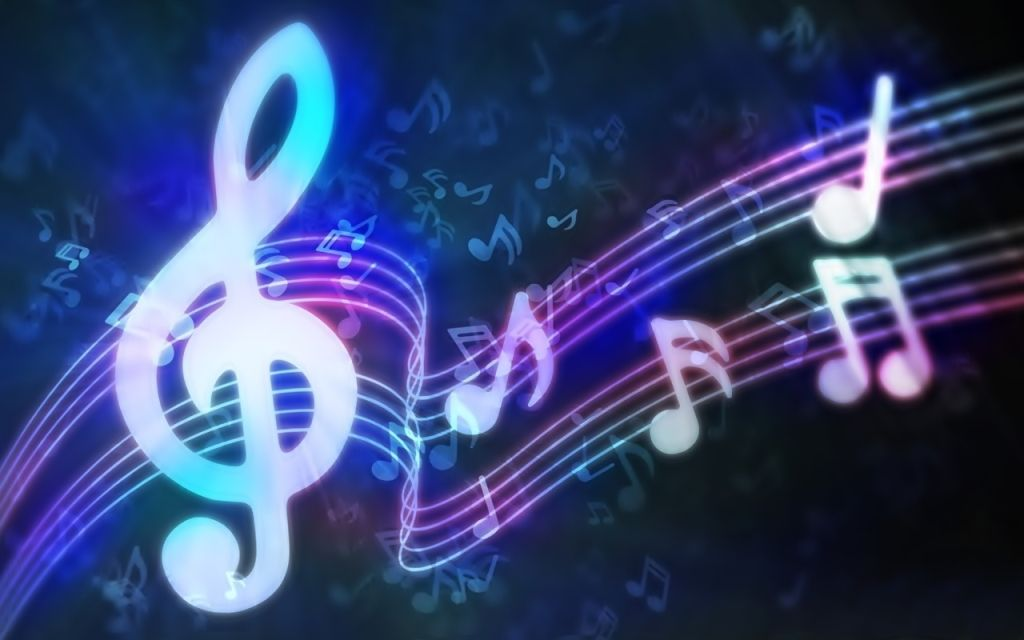 colorful neon music backgrounds - photo #16