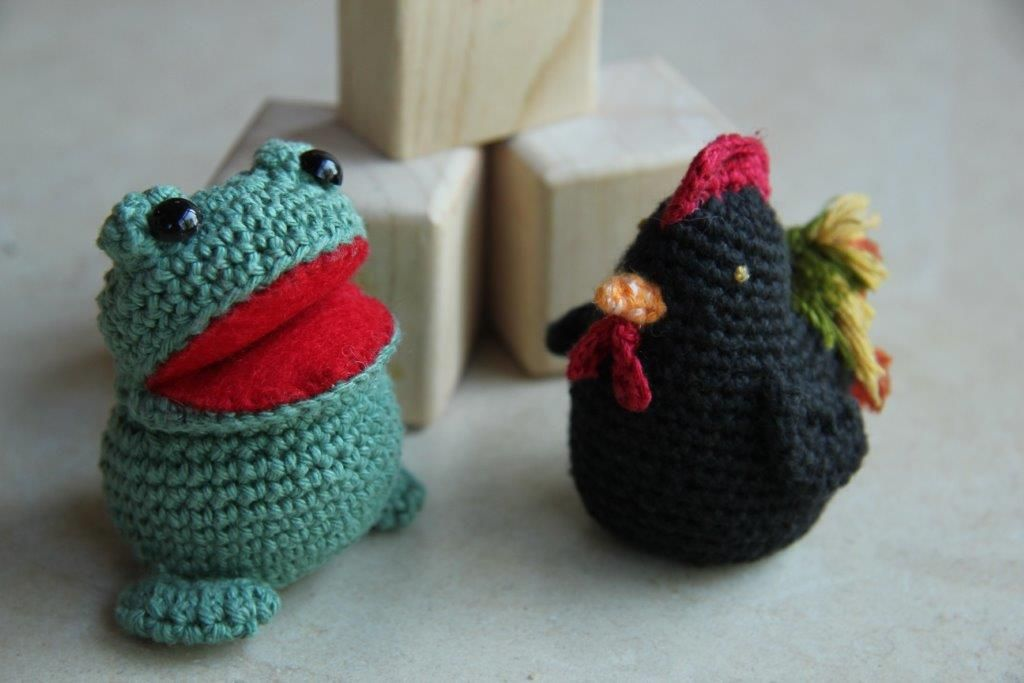 Amigurumi frog and rooster Knitting and crochet Pinterest