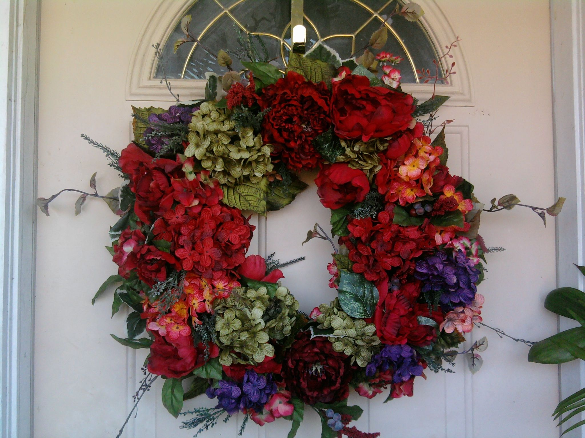 Front door wreath home wreaths pinterest for Front door xmas wreaths