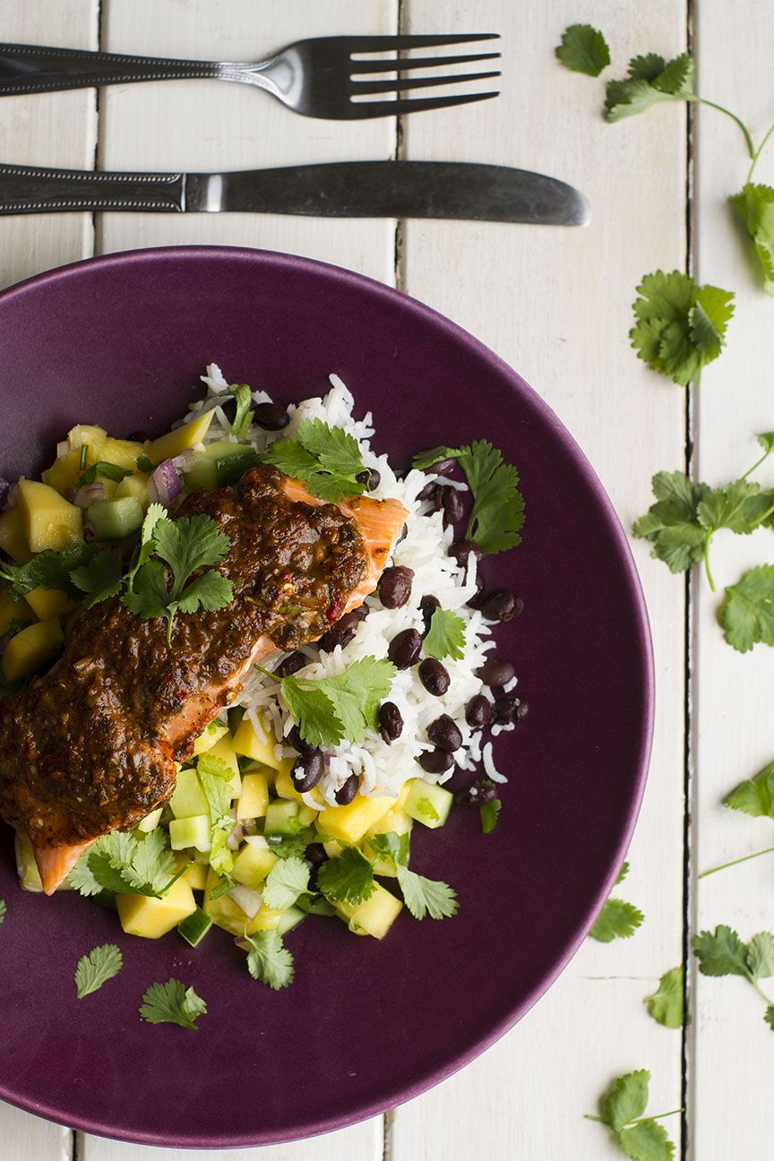 Jamaican Jerk Salmon And Mango Pineapple Salsa Recipes — Dishmaps