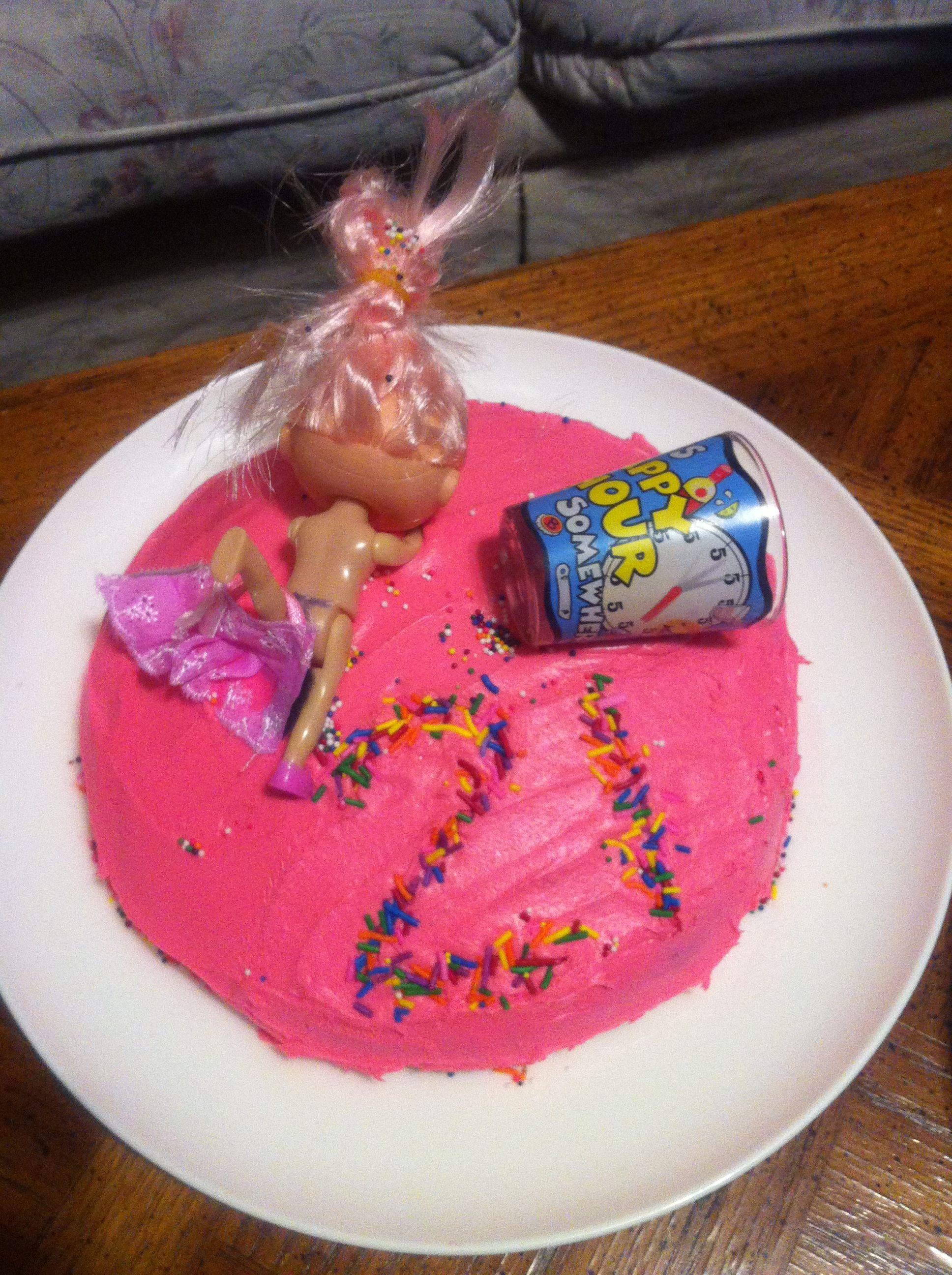 St Birthday Cake Ideas Drunk Barbie