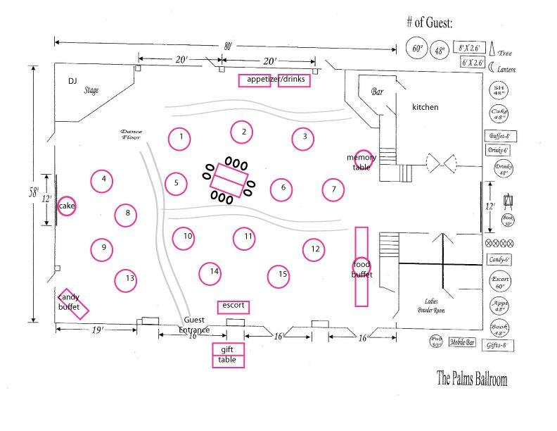 Reception floor plan weddings pinterest for Wedding reception floor plan