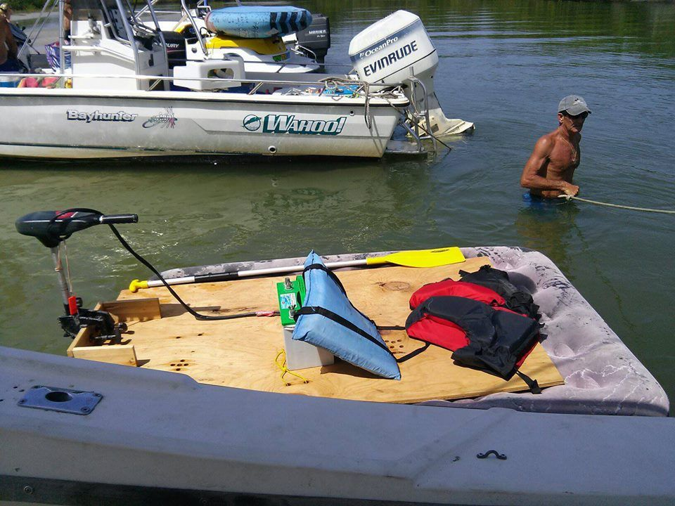air mattress boat You might be a Redneck if