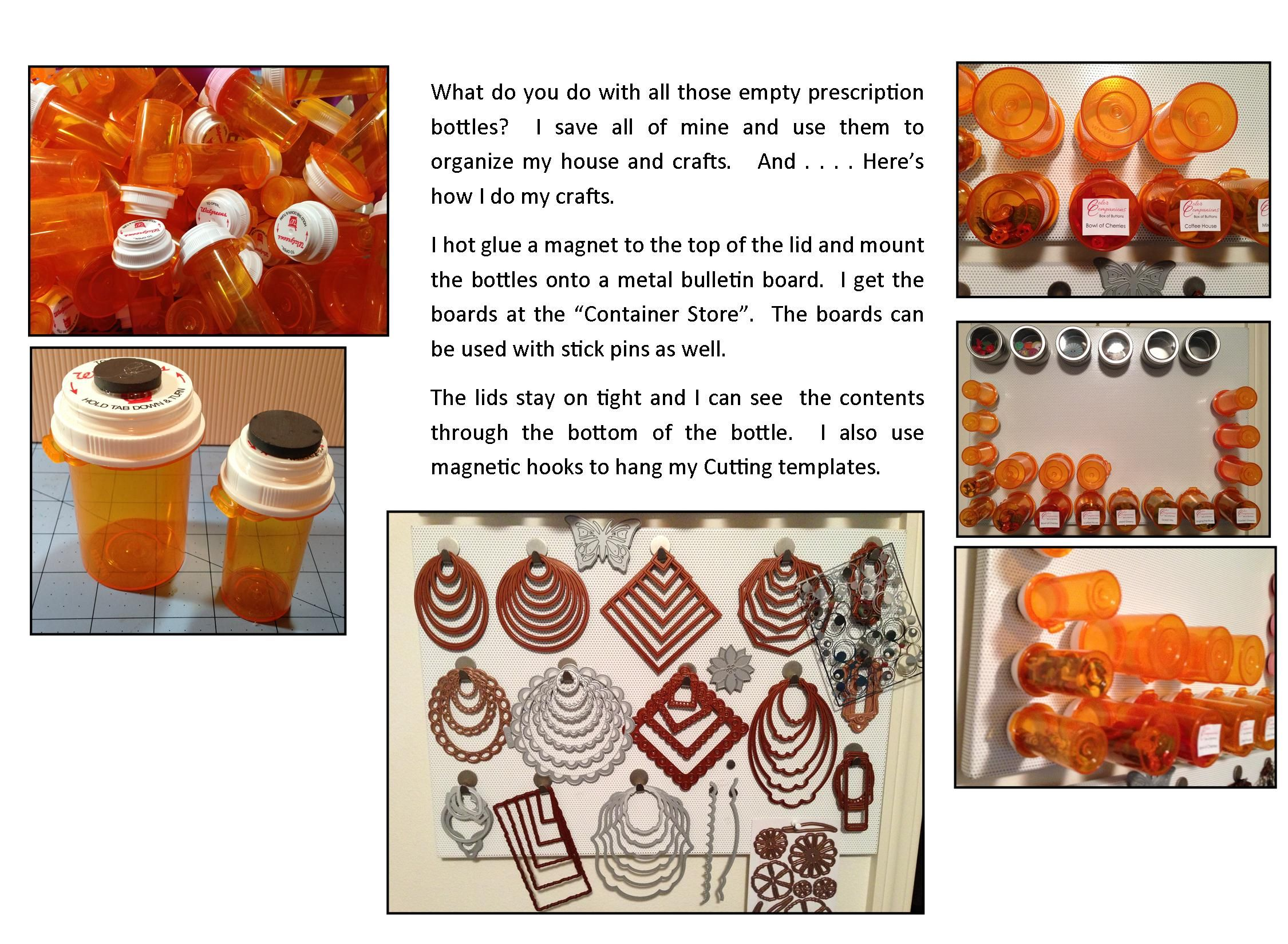 Pin by jutta hood on crafts pinterest for What to do with empty prescription bottles