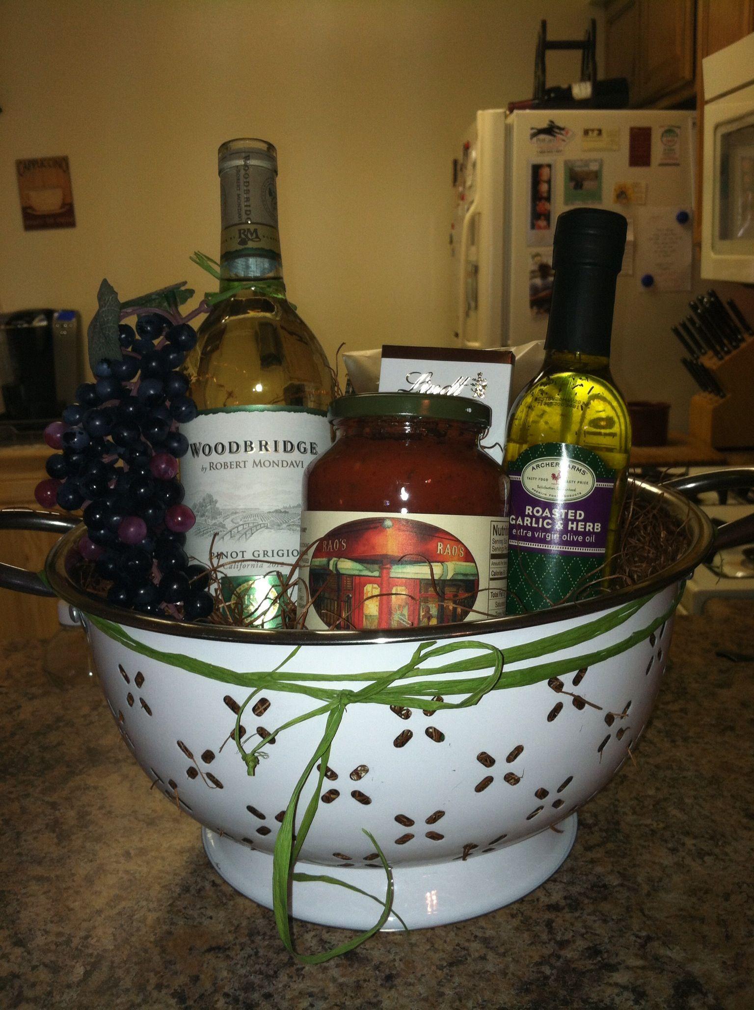 My housewarming basket gift ideas pinterest