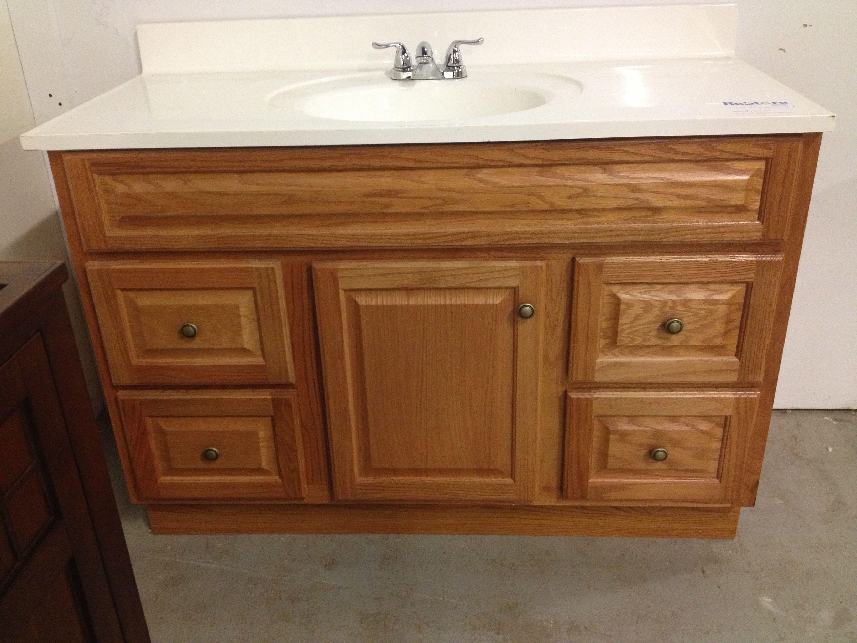 oak bathroom vanity hfhcfc habitat restore in stratford pinterest