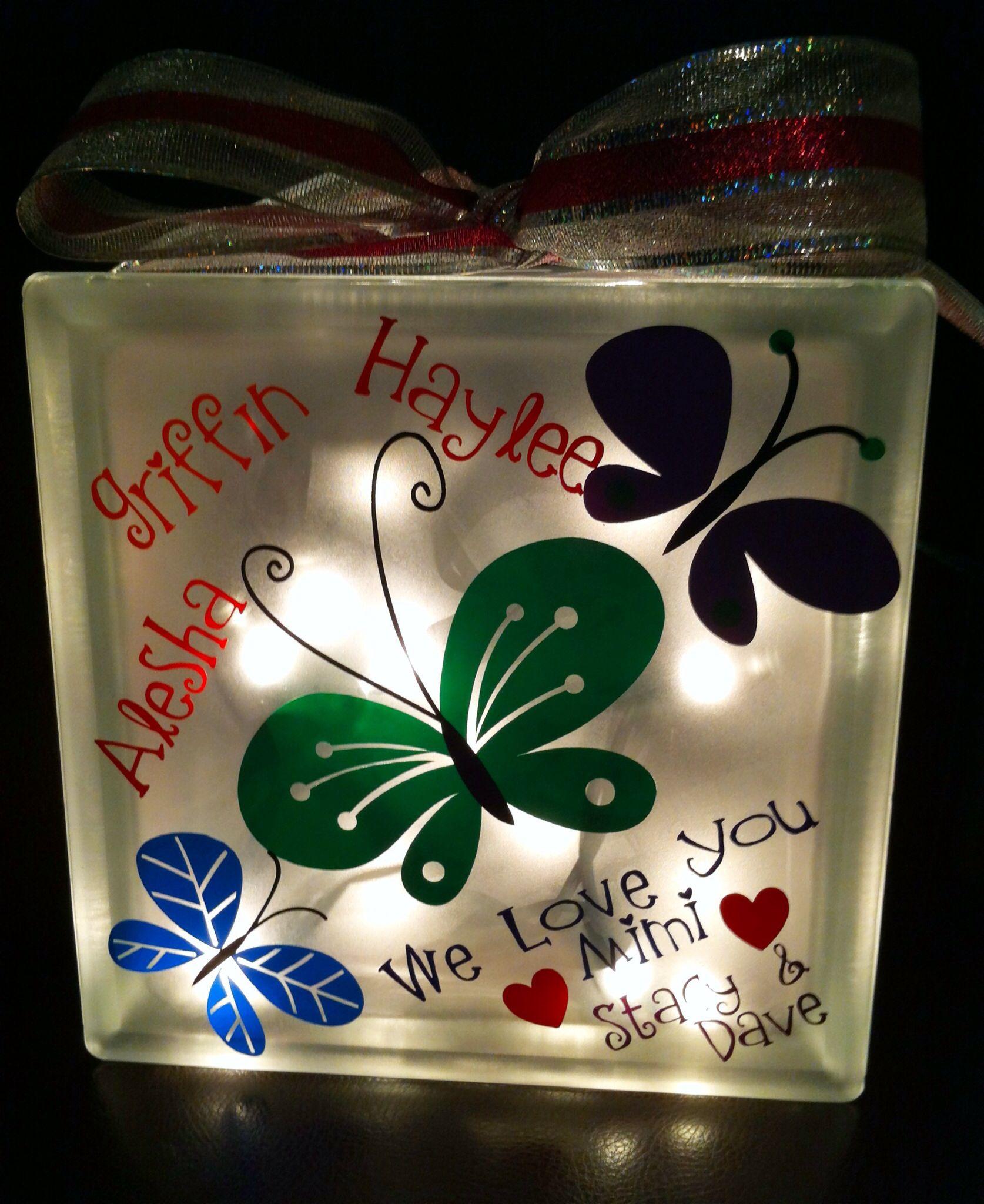 Lighted glass block glass block decorating pinterest - Glass block decoration ideas ...
