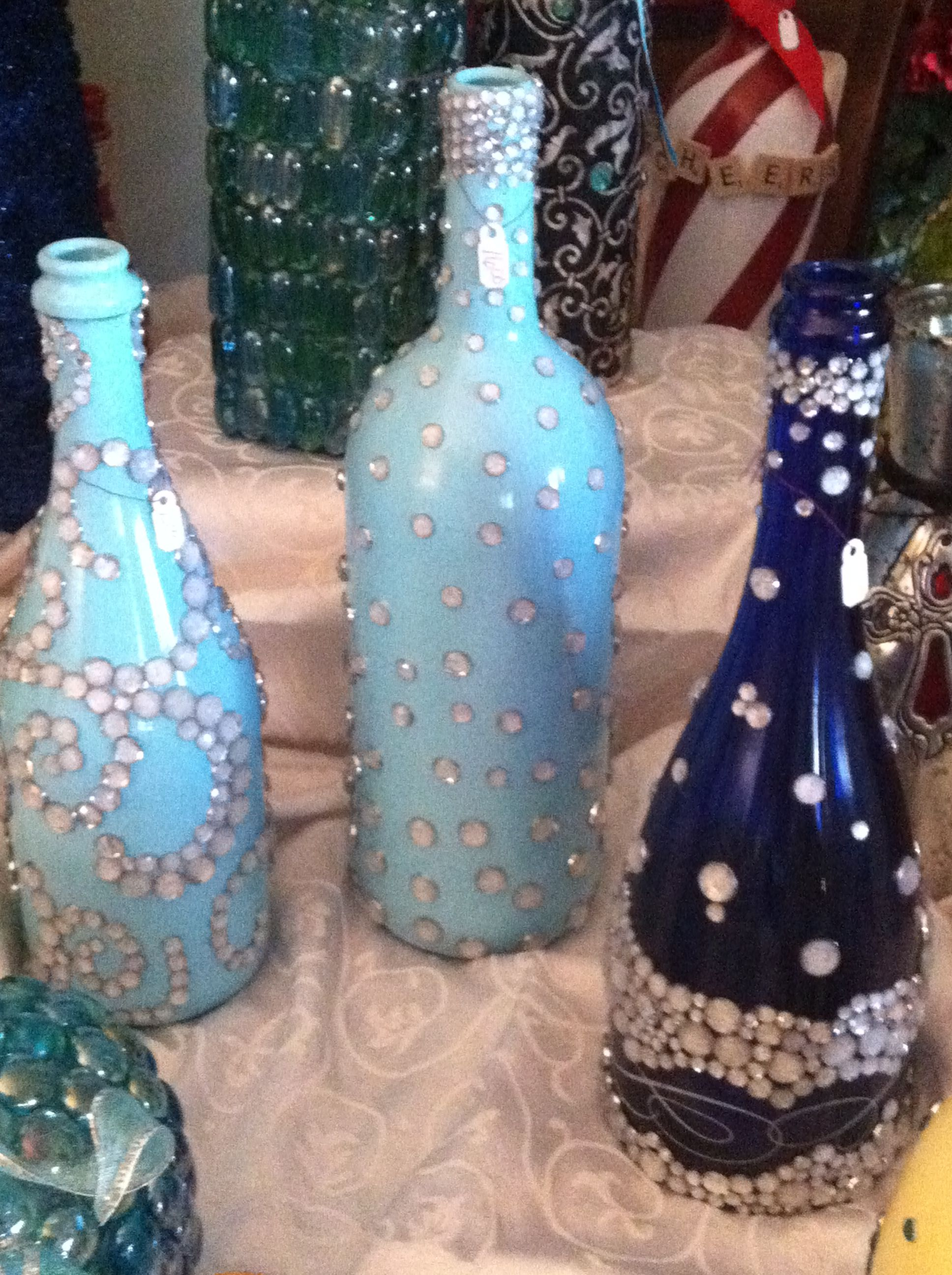 decorated wine champagne bottles 2013 vine and dine