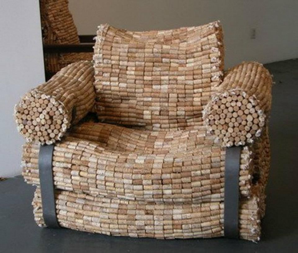 Chair made out of wine corks crafty pinterest for Things to do with wine corks