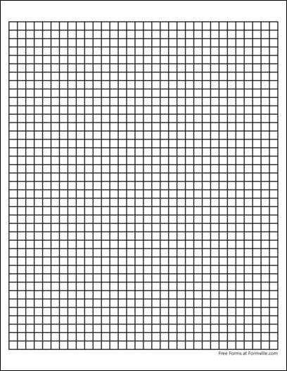 Printable Graph Paper 1/4 Inch – printable calendar