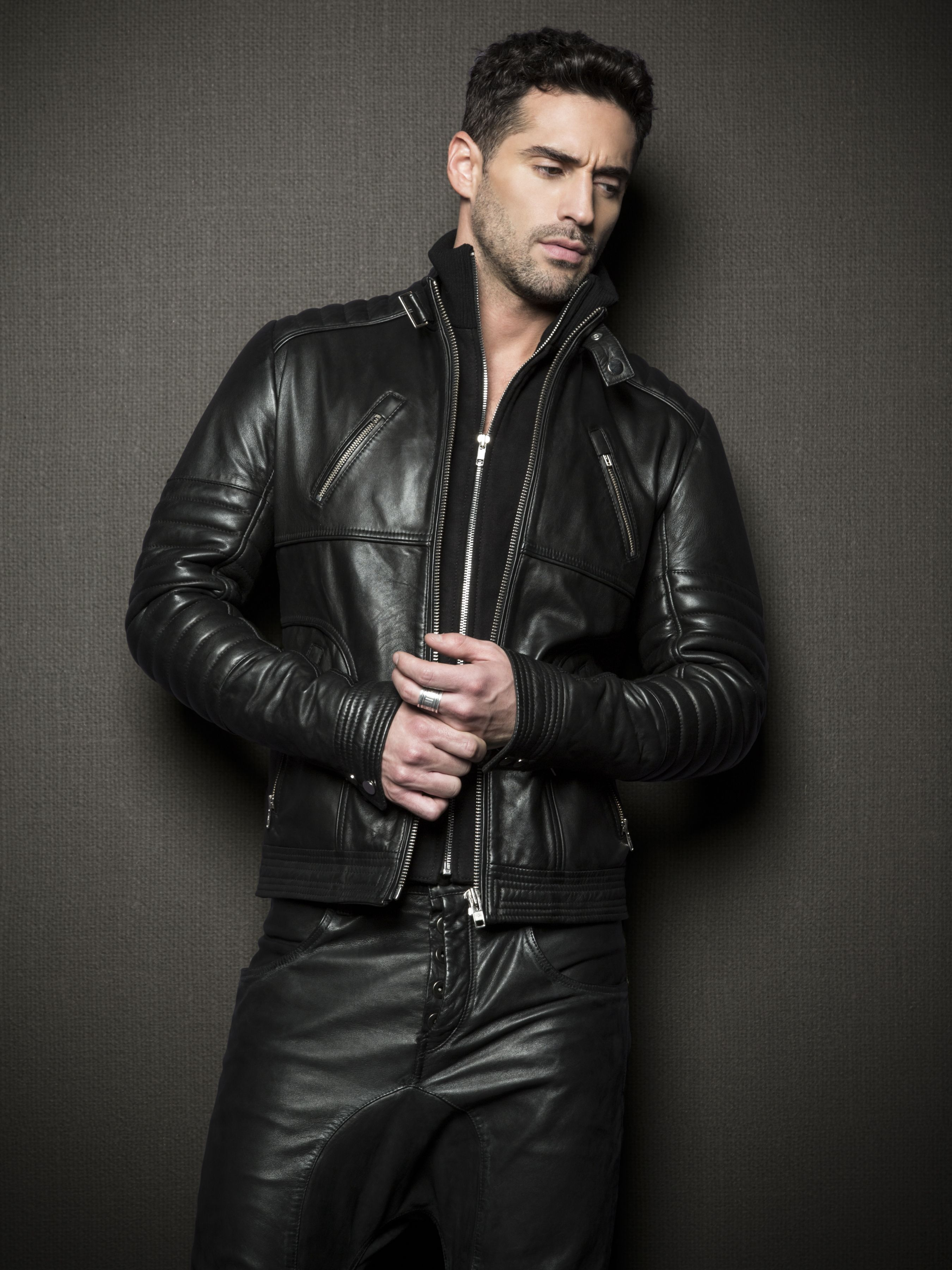 Leather pants and jacket