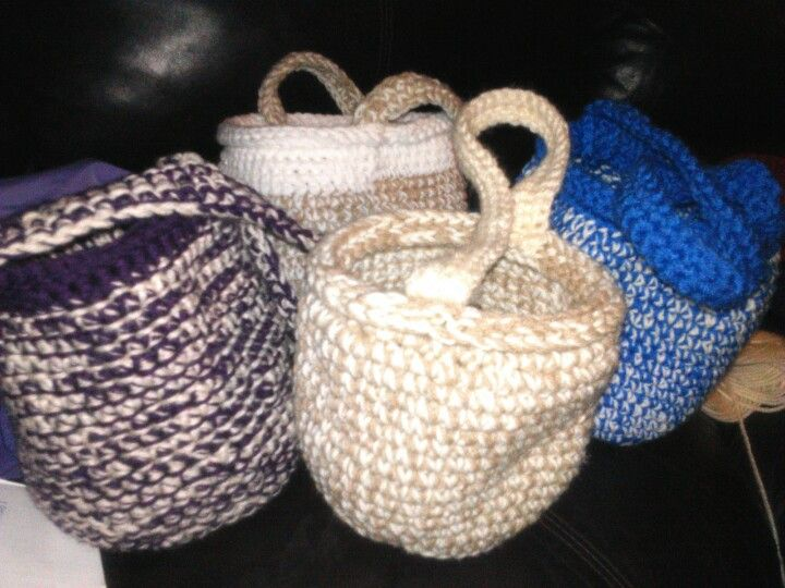Crochet Easter Basket : Crocheted Easter Baskets Easter Pinterest