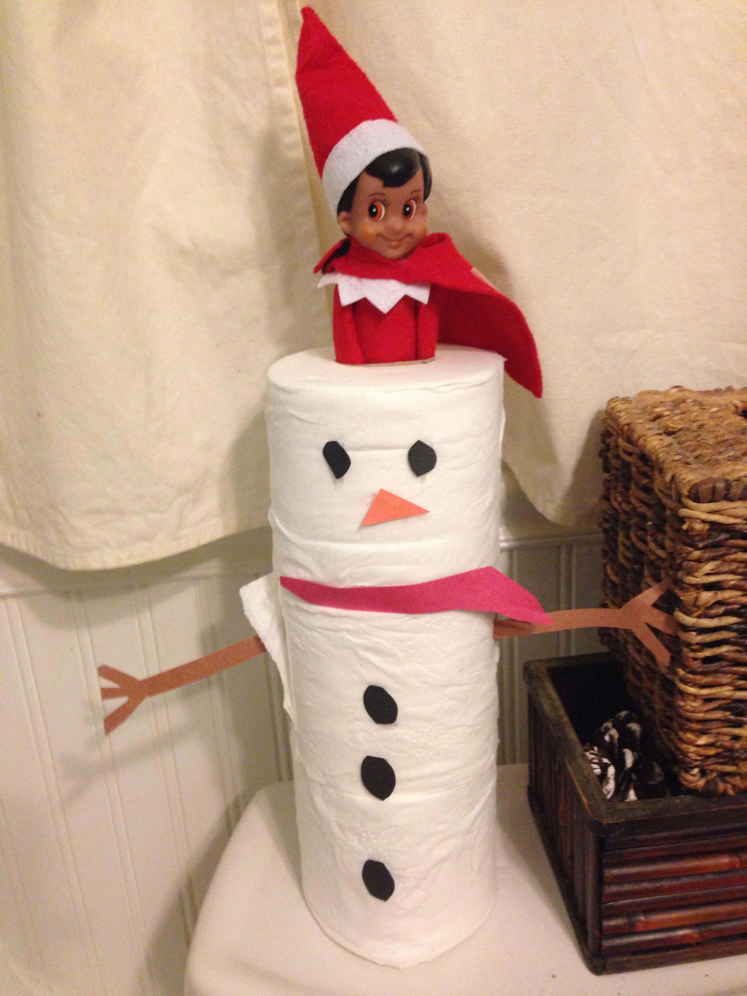 Elf snowman | Elf on the shelf ideas | Pinterest